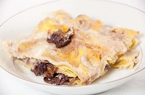 Lasagne con radicchio e brie