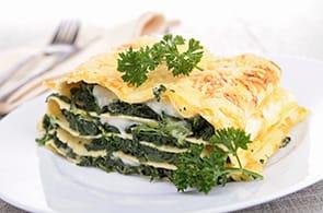 Lasagne con spinaci e brie