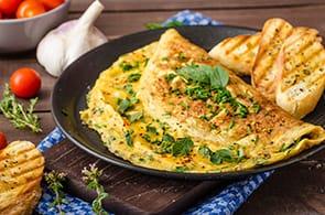 Omelette con Erbe Aromatiche