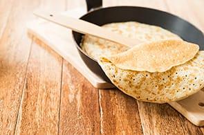 Crêpes con farina d'avena