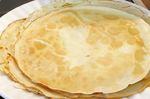 Crepes ricetta con latte di soia