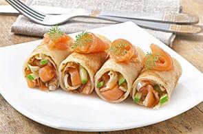 Crêpes salmone affumicato e zucchine