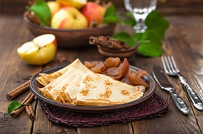 Crêpes e marmellata di mele