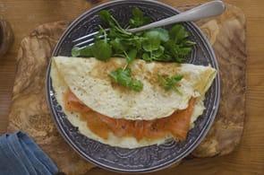 Omelette con salmone affumicato e brie