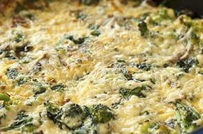 Omelette ricotta e spinaci