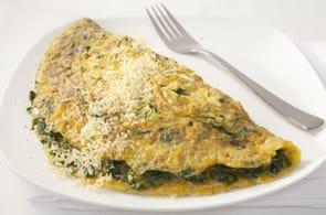 Omelette spinaci, ricotta e brie