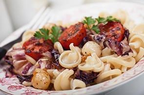 Pasta radicchio, gorgonzola e brie