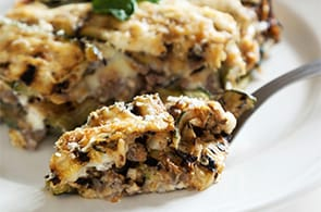 Pasticcio di zucchine e camembert