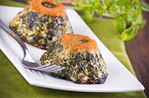 Soufflé di spinaci e Brie