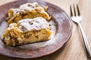 Tortino di mele, Camembert e Noci