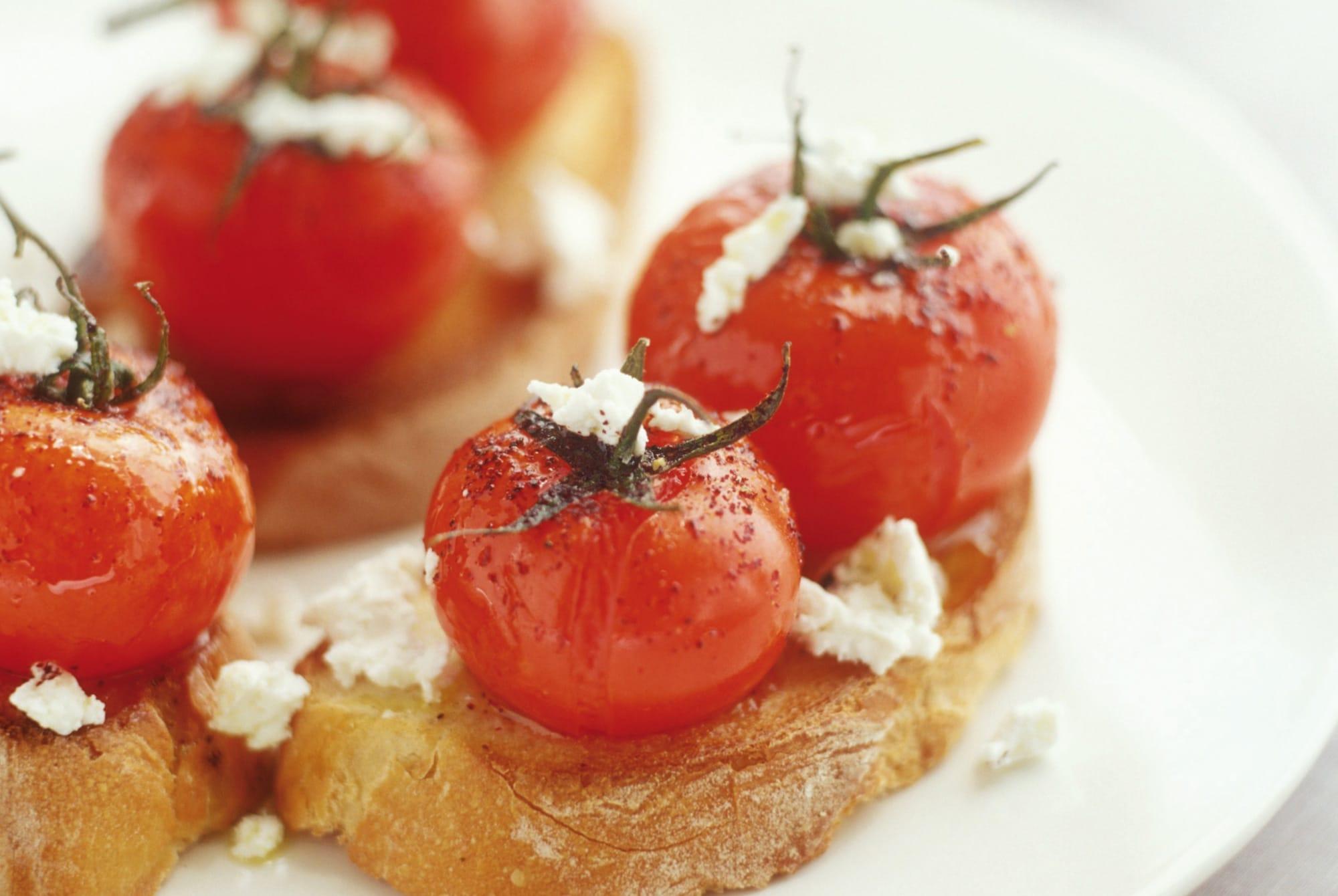 Baguette con Pomodorini e Formaggio di Capra