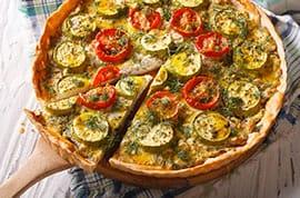 Crostata di zucchine