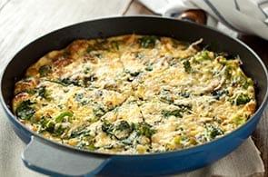 Omelette con broccoli e salsiccia