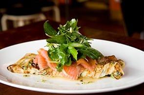 Omelette con Salmone