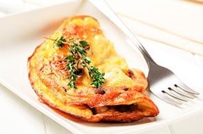 Omelette con speck e Emmental