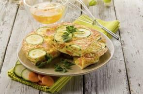 Omelette con zucchine e carote