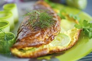 Omelette con Zucchine e Brie