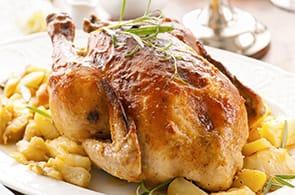 Pollo ripieno di brie, mele e noci