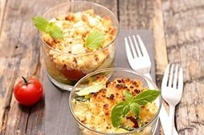 Sbriciolata con zucchine e brie