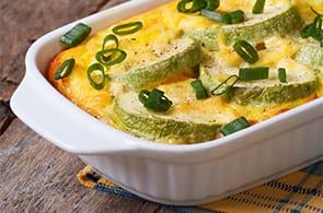 Soufflé di zucchine e brie