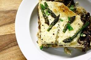 Lasagne con asparagi e brie