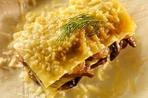 Lasagne con funghi e brie