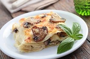 Lasagne porcini e brie