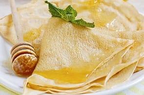 Crêpes con miele