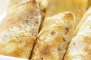 Crêpes salame e camembert