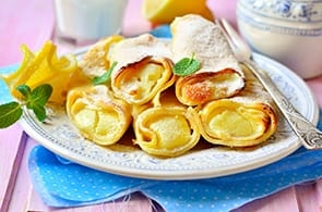 Crêpes alla vaniglia