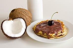 Crêpes con farina di cocco