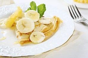 Crêpes con banane