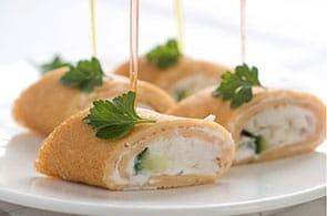 Crêpes con crema di zucchine