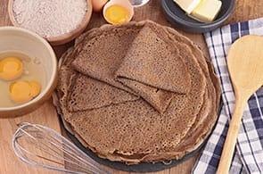 Crêpes con grano saraceno senza glutine