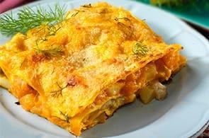 Lasagna zucca e roquefort
