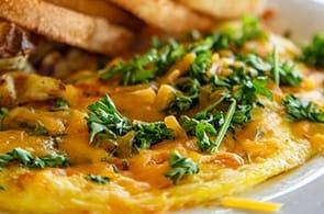 Omelette con crusca d'avena