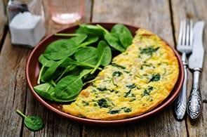 Omelette spinaci e brie