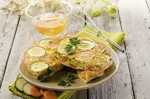Omelette zucchine e emmental