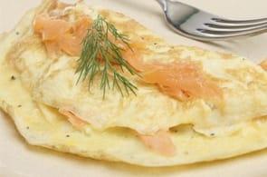 Omelette salmone e camembert