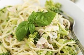 Pasta broccoli, pancetta e brie