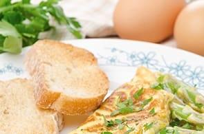 Omelette e Baguette con Camembert