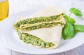 Crêpes agli spinaci e ricotta