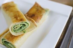 Crêpes con Camembert e Zucchine Trifolate