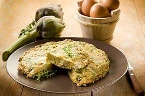 Omelette con carciofi ed Emmental