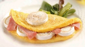 Omelette di Formaggio Président, una speciale ricetta francese