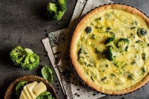 Quiche di broccoli con formaggio di capra