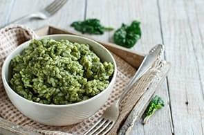 Risotto spinaci e brie