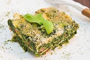Sformato di spinaci e camembert