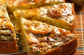 Torta salata di patate e brie