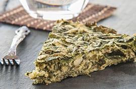 Torta salata spinaci e formaggio di capra